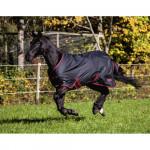 Couverture chevaux Outdoor RugBe, Zero 1, 125 cm, noir/rouge