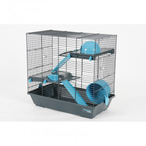 Cage INDOOR 50 cm hamster duplex bleu