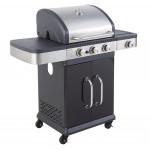 Barbecue américain gaz 3 brûleurs FIDGI 3 + réchaud latéral