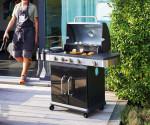 Barbecue américain gaz 4 brûleurs FIDGI 4 + réchaud latéral