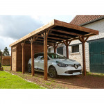 Carport 1 véhicule + abri HARRY 3080x6600mm