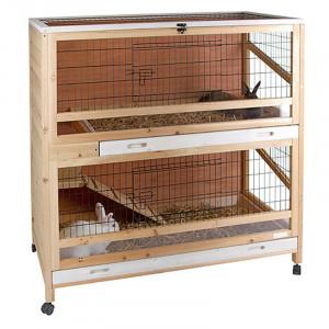 Cage en bois double étage INDOOR DELUXE